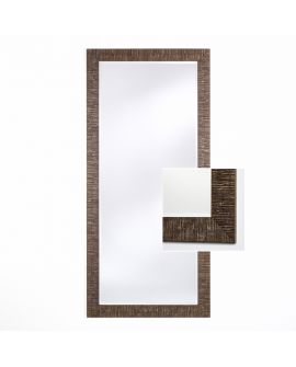 Miroir encadré Toledo Bronze XL Rectangle Couleur bronze 88 X 190