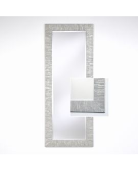 Miroir encadré Toledo Silver Hall Rectangle Couleur argent 61 X 152