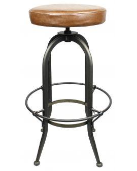 Tabouret de bar CASSIDY LOUNGE en Assise en similicuir et métal