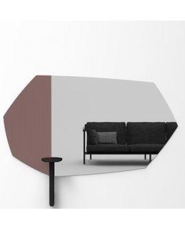 Miroir encadré Faux Table Black Modèle irrégulier Miroir+verre clair 25 X 54
