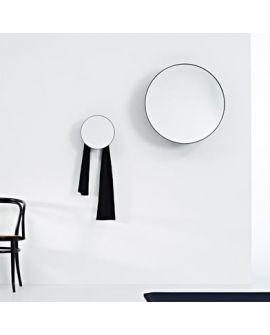 Miroir encadré Edvard large black Ronde Noir 79 X 28