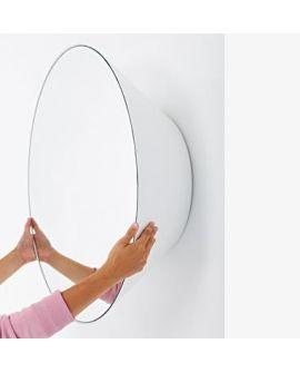 Miroir encadré Edvard large white Ronde Blanc 79 X 28