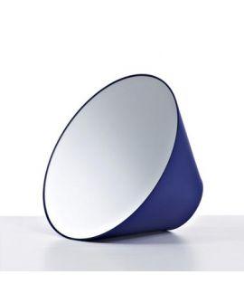 Miroir encadré Edvard small blue Ronde Bleu 37 X 20