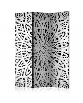 Paravent 3 volets - White Mandala [Room Dividers] 135x172