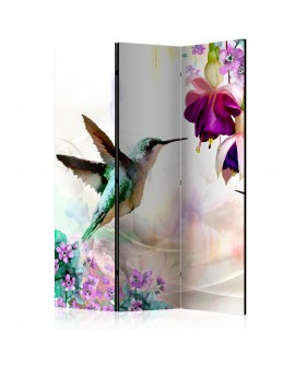 Paravent 3 volets - Hummingbirds and Flowers [Room Dividers] 135x172
