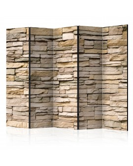 Paravent 5 volets - Decorative Stone II [Room Dividers] 225x172