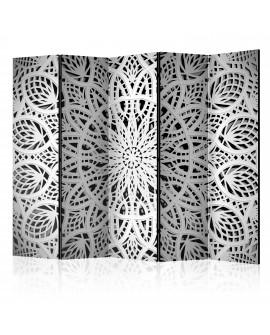 Paravent 5 volets - White Mandala II [Room Dividers] 225x172