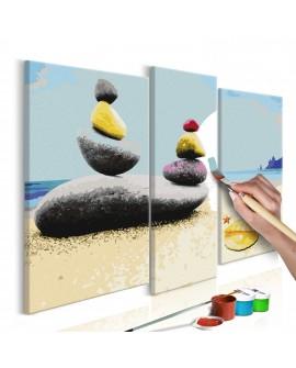 Tableau à peindre par soi-même - Plage de vacances 110x90