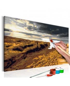 Tableau à peindre par soi-même - Plage sauvage 60x40