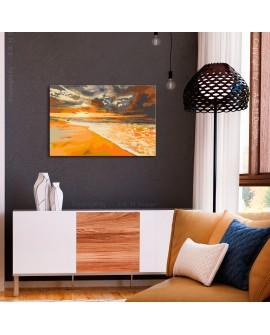 Tableau à peindre par soi-même - Plage dorée 60x40