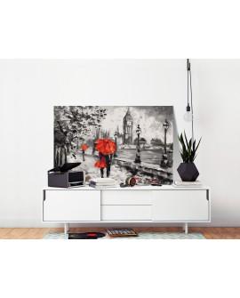 Tableau à peindre par soi-même - Amoureux à Londres 60x40