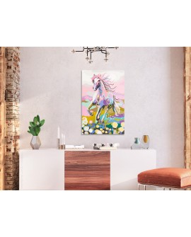 Tableau à peindre par soi-même - Cheval féerique 40x60