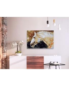 Tableau à peindre par soi-même - Cheval blanc 60x40