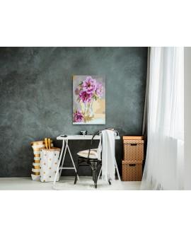 Tableau à peindre par soi-même - Fleurs dans un vase 40x60