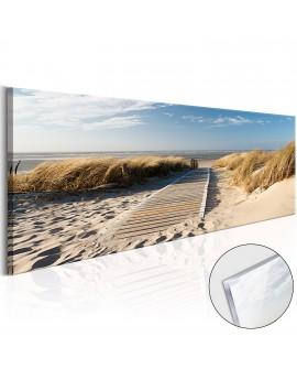 Tableau sur verre acrylique - Wild Beach [Glass] 135x45