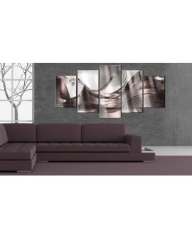 Tableau sur verre acrylique - Golden Storm [Glass] 100x50