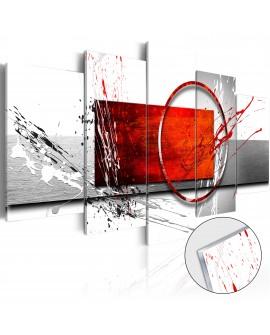 Tableau sur verre acrylique - Wintry Expression [Glass] 100x50