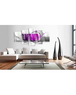 Tableau sur verre acrylique - Purple Expression [Glass] 100x50