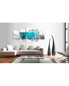 Tableau sur verre acrylique - Turquoise Expression [Glass] 100x50