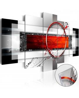 Tableau sur verre acrylique - Carmine Missile [Glass] 100x50