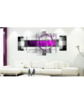 Tableau sur verre acrylique - Violet Rim [Glass] 100x50