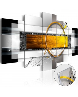 Tableau sur verre acrylique - Golden Shot [Glass] 100x50