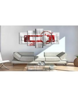 Tableau sur verre acrylique - Incarnadine Energy [Glass] 100x50