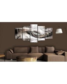 Tableau sur verre acrylique - Brown Glitter [Glass] 100x50