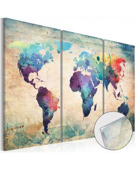 Tableau sur verre acrylique - Rainbow Map [Glass] 90x60