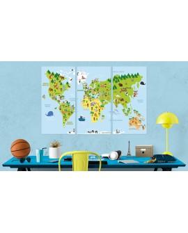 Tableau en liège - Children's World [Cork Map]