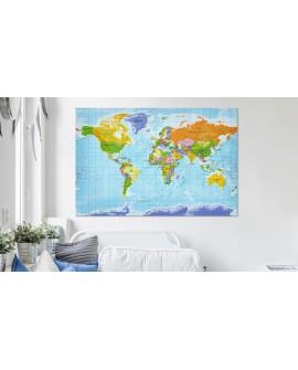 Tableau en liège - World Map: Countries Flags [Cork Map]