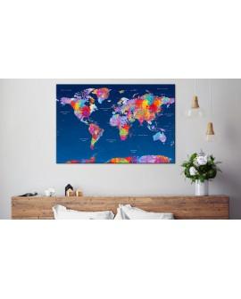 Tableau en liège - World Map: Artistic Fantasy