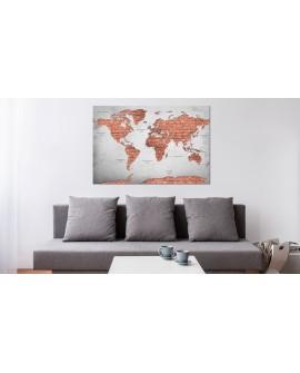 Tableau en liège - Brick World [Cork Map]