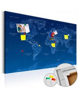 Tableau en liège - World Map: World Connection [Cork Map]