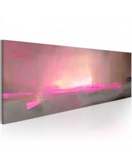 Tableau peint à la main - Lumière rose