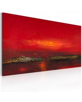 Tableau peint à la main - Coucher de soleil sur la mer Rouge