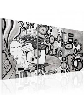 Tableau peint à la main - Silver Kiss