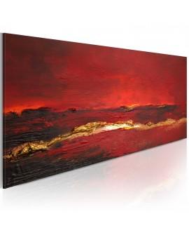 Tableau peint à la main - Rougeur de l'océan