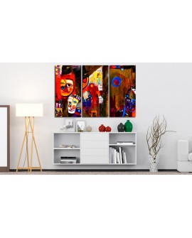 Tableau peint à la main - Abstract Carnival