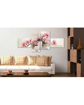 Tableau peint à la main - Parfum de magnolias