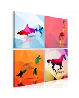 Tableau - Geometric Animals (4 Parts)