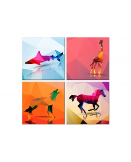 Tableau - Geometric Animals (4 Parts)