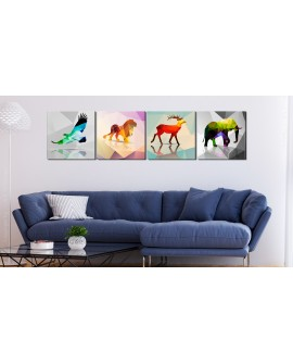 Tableau - Colourful Animals (4 Parts)