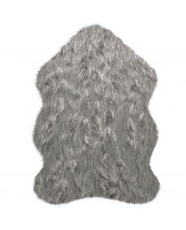 TAPIS AURA FAUX FUR GLACIER 45% Acrylic, 35% Polyester, 15% Modacry, 5% lurex GREY