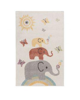 TAPIS BAMBINO ELEPHANTS 100% Polypropylene CREAM/MULTI