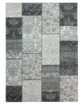 TAPIS CORE MANHATTAN PATCHWORK CHENILLE ACRYLIC BLACK/GREY