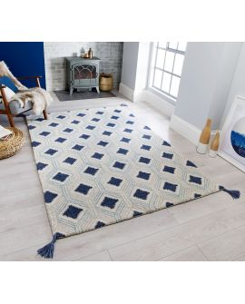 TAPIS CORE NAPPE MARCO WOOL BLUE