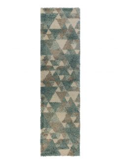 TAPIS DAKARI NURU 100% Polypropylene BLUE/CREAM/GREY