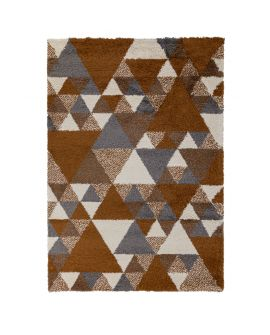 TAPIS DAKARI NURU 100% Polypropylene GINGER/CREAM/GREY