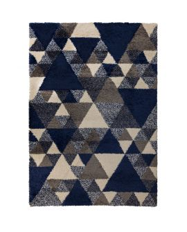 TAPIS DAKARI NURU 100% Polypropylene NAVY/CREAM/GREY